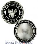 Navy 1 Troy Ounce .999 Fine Silver Medallion Round