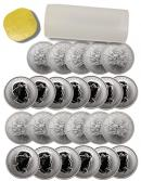 Roll of 25 - 2013 Canada 1 Troy Oz .9999 Fine Silver Maple Leaf $5 Coins