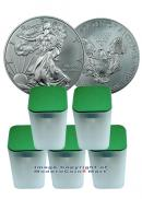 5 rolls - 100 coins - 2013 1 Oz Silver Eagles Gem Brilliant Uncirculated