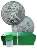Sealed monster box of 2013 1 Oz Silver Eagles Gem Brilliant Uncirculated - 500 coins total