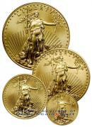 2013 4 Coin Gold Eagle Set 1.85 oz Gem Brilliant Uncirculated