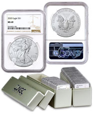 1986 - 2020 American Silver Eagle 35-Coin Set NGC MS69 with Storage Box