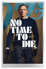 Movie Poster Foil 007 James Bond No Time to Die 35 g Silver
