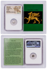 Ionia, Teos Silver Diobol (c.375-294 BC) - obv. Griffin/rv. Chelys NGC Ch. VF (Story Vault)