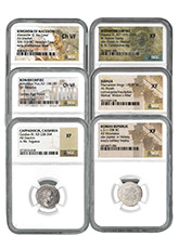 6-Coin Set - Ancient Coins Type Set Collection Scarce and Unique Coin Division Standard Edition NGC Varies