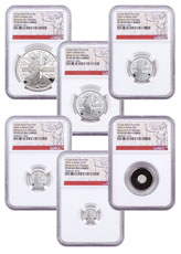 2020 Great Britain Silver Britannia - 6-Coin Proof Set Proof Coins NGC PF69 UC FR White Core Holder Britannia Label
