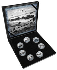 D-Day Cold Enamel 7-pc Medal Collection