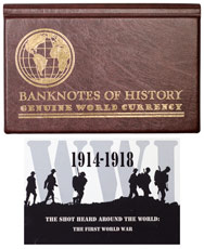The Shot Heard 'Round the World: WWI 1914-1918 6-Banknote Collection Album with COA