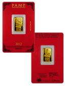 PAMP Suisse 2012 Lunar Year of the Dragon 5 Gram .999 Gold Bar - New Sealed With Assay Certificate