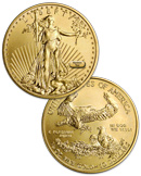 Random Date $10 1/4 Oz Gold Eagle Gem Brilliant Uncirculated