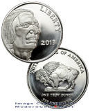 2013 American Indian - Buffalo 1 Troy Ounce .999 Silver Round - New Style