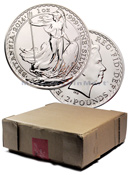 Box of 500 - 2014 Great Britain 1 Troy Oz .999 Silver Bri