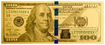 Replica Benjamin Franklin Design $100 1 g Gold Note