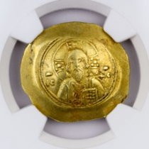 Byzantine Empire, Gold Histamenon Nomisma of Michael VII (AD 1071-1078) - obv. Christ/rv. Michael VII NGC XF (Strike: 4/5, Surface: 3/5) Clipped
