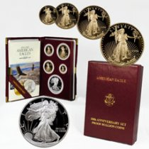 1995-W 5-Coin American Eagle 10th Anniversary Set (OGP)