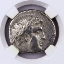 Phoenicia, Tyre Silver Shekel (126/5 BC-c.AD 67/8) - Money of the Bible Yr.87 (40/39 BC) - obv. Melkart/rv. Eagle on Prow NGC VF (Strike: 4/5, Surface: 3/5)