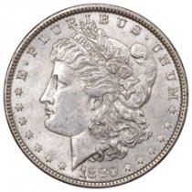 1880 Morgan Silver Dollar BU