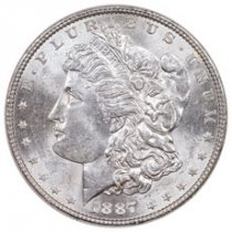 1887 Morgan Silver Dollar BU