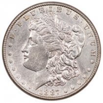 1887 Morgan Silver Dollar XF