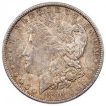 1890 Morgan Silver Dollar XF