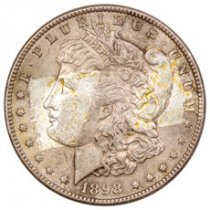 1898 Morgan Silver Dollar BU