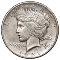 1921 Silver Peace Dollar VF
