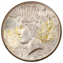 1923-S Silver Peace Dollar VF