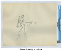 (1959) United States Disney Original Production Drawings - Sleeping Beauty CGC Genuine