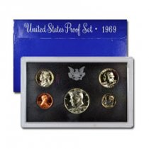 1969-S U.S. Proof Coin Set GEM Proof OGP