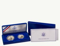 1986-S Statue of Liberty Centennial 2-Coin Commemorative Silver Proof Set GEM Proof OGP