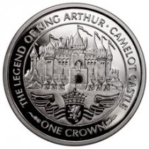 1996 Isle of Man Legend of King Arthur Camelot Castle 1 Crown Coin GEM Proof