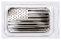 SilverTowne Mint American Flag Design Prooflike 1 oz Silver Bar