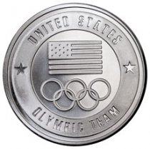 United States Olympic Team 1 oz Silver Round GEM BU