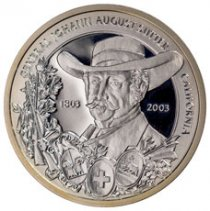 2003 Switzerland Shooting Festival Thaler - Basel Silver Proof Fr.50 GEM Proof Original Mint Capsule