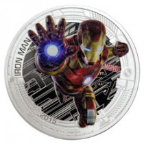 2015 Niue Marvel Avengers: Age of Ultron - Iron Man 1 oz Silver Colorized Proof $2