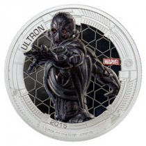 2015 Niue Marvel Avengers: Age of Ultron - Ultron 1 oz Silver Colorized Proof $2 GEM Proof