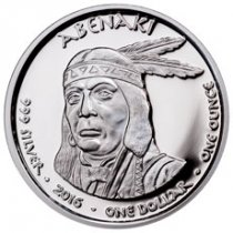 2016 Native American Silver Dollar - New Hampshire Abenaki - Bobcat 1 oz Silver Proof Coin GEM Proof Original Mint Capsule