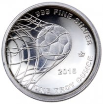 2016 Monarch Soccer Ball 1 oz Silver Round