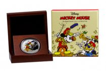 2016 Niue Disney Mickey Through the Ages - Band Concert 1 oz Silver Colorized Proof $2 GEM Proof OGP