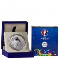 2016 France UEFA Euro 2016 - Header Silver Gilt Proof €10 Coin NGC GEM Proof