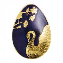 (2018) Palau Golden Swan Egg 1/2 g Gold Colorized Prooflike $1 Coin GEM Proof