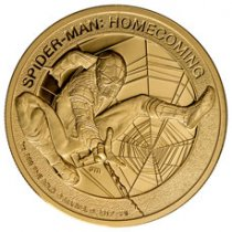 2017 Cook Islands Marvel Spider-Man: Homecoming - 1 oz 1 oz Gold Proof $200 Coin GEM Proof OGP