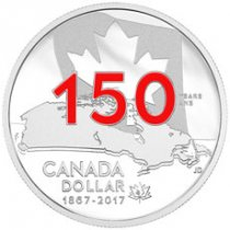 2017 Canada Celebrating Canada's 150th - Our Home and Native Land 3/4 oz Silver Enameled Proof $1 Coin OGP
