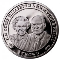 2017 Falkland Islands 70 Years of Queen Elizabeth II & Prince Phillip - 90th Birthday 1 oz Silver Proof £2 Coin GEM Proof