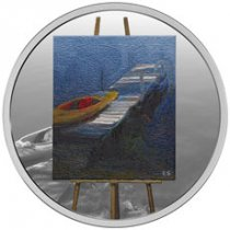 2017 Canada En Plein Air - A Paddle Awaits 1 oz Silver Colorized Proof $20 Coin GEM Proof OGP