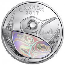2017 Canada Protecting our Future - Loon and Salmon 1 oz Silver Hologram Proof $20 Coin GEM Proof OGP
