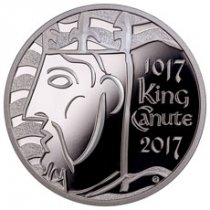 2017 Great Britain Coronation of King Canute - 1 oz Silver Proof £5 Coin GEM Proof OGP