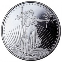 Highland Mint Saint-Gaudens Double Eagle Design 1 oz Silver Round