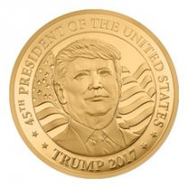2017 Equatorial Guinea Donald Trump 1/10 oz Gold Proof Fr. 3000 Coin GEM Proof
