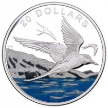 2017 Canada Glistening North - Arctic Tern 1 oz Silver Colorized Proof $20 Coin GEM Proof (OGP)
